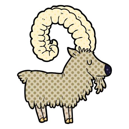 Cartoon goat icon.