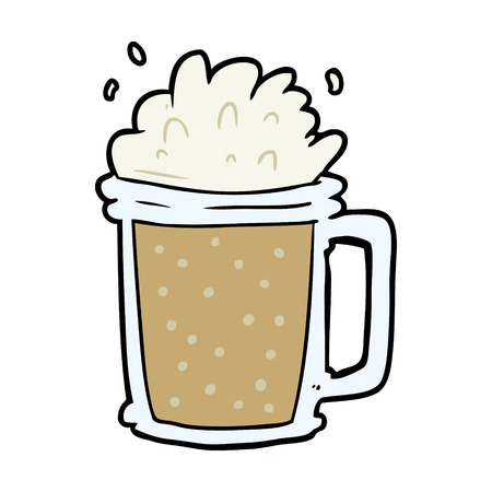 Cartoon pint of ale.