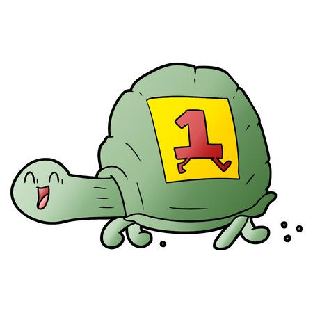 漫画の亀。