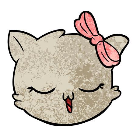 Cartoon cat face.