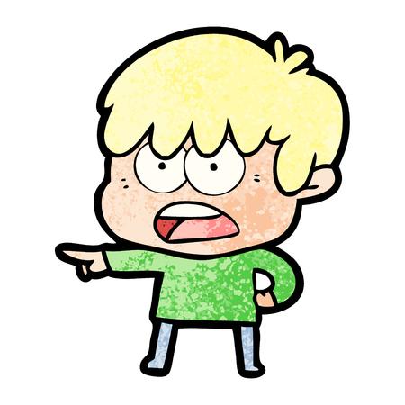 Worried cartoon boy. Illustration