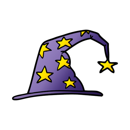 Cartoon wizard hat. Çizim