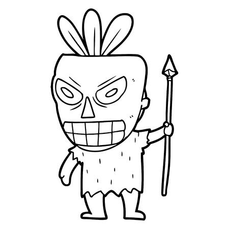 cartoon kannibaal sjamaan
