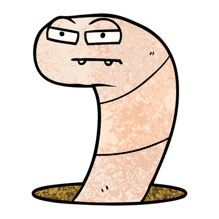 cartoon worm