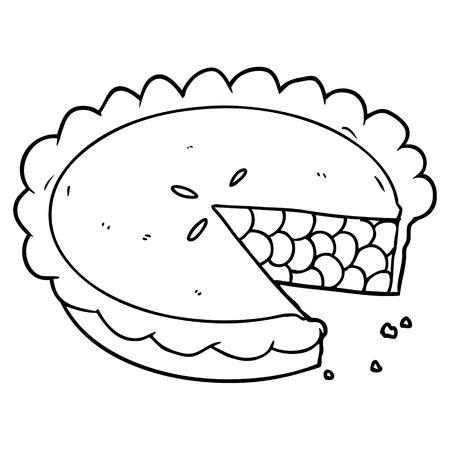 Heidelbeerkuchen Cartoon Standard-Bild - 94896358