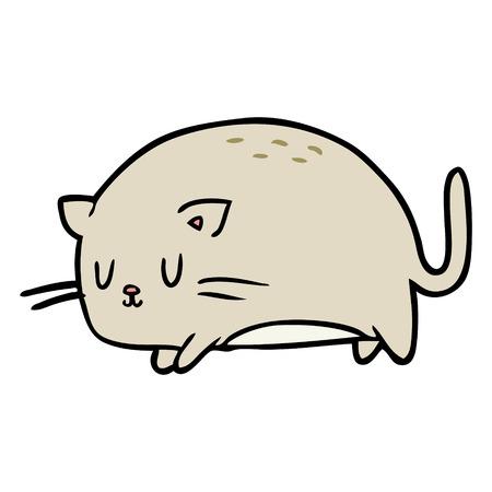cute fat cartoon cat