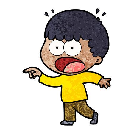 cartoon shocked man pointing