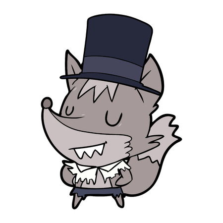 cartoon posh halloween werewolf