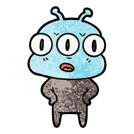 annoyed three eyed alien