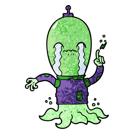 cartoon alien illustration.