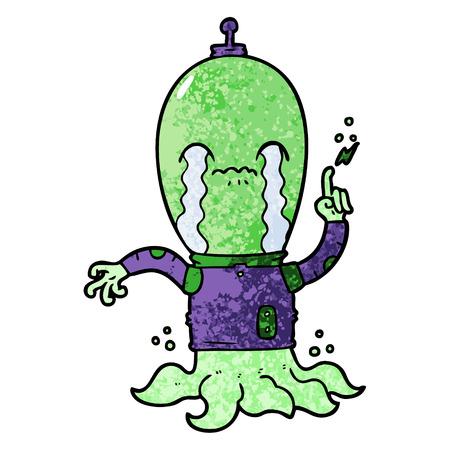 cartoon alien illustration. Reklamní fotografie - 94742918