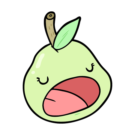 cute cartoon pear