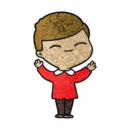 cartoon smiling boy Ilustração
