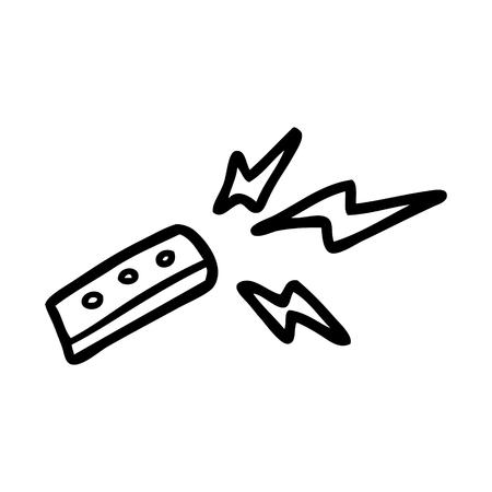 cartoon remote control Иллюстрация