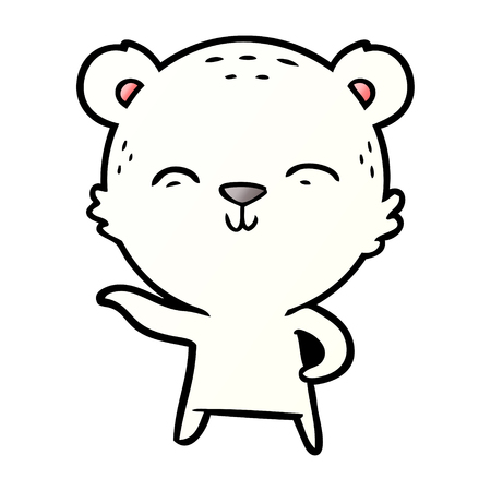 ijsbeer cartoon Stock Illustratie
