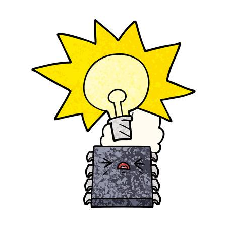 cartoon overheating computer chip