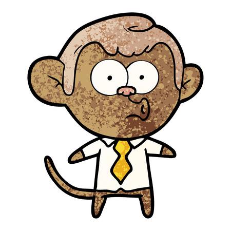 Cartoon office monkey Çizim