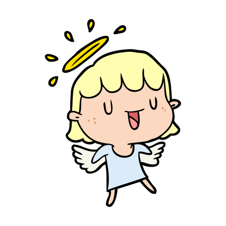 cute cartoon angel 版權商用圖片 - 94739179
