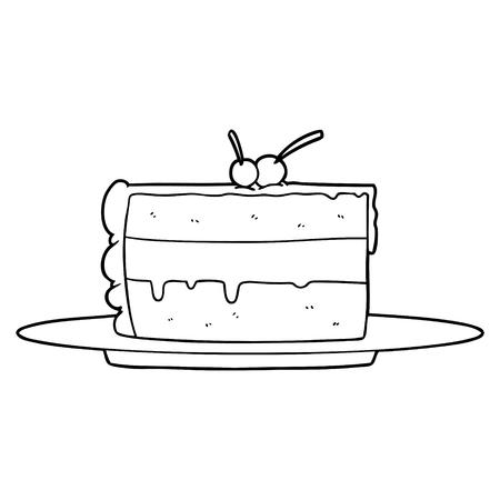 cartoon cake Ilustração