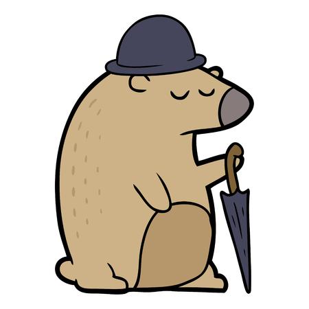 Cartoon business bear. Ilustração