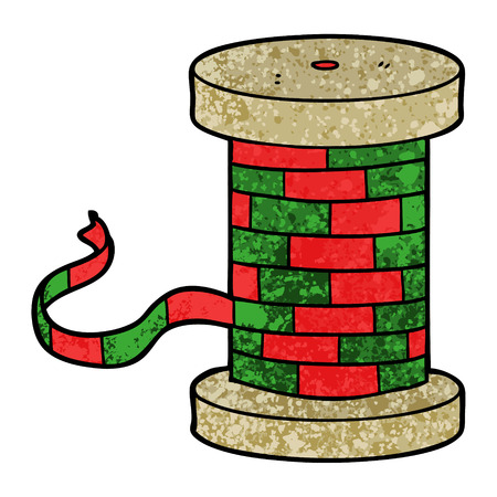 Cartoon reel of ribbon Ilustração
