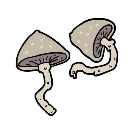 Cartoon wild mushrooms