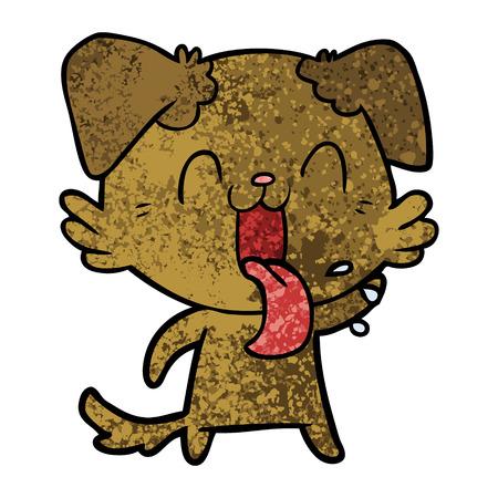 Cartoon panting dog