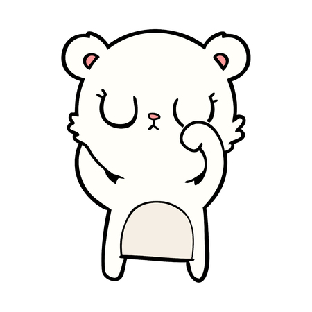 Polar bear cartoon. Illustration