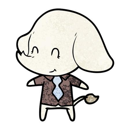 Cute cartoon elephant boss.