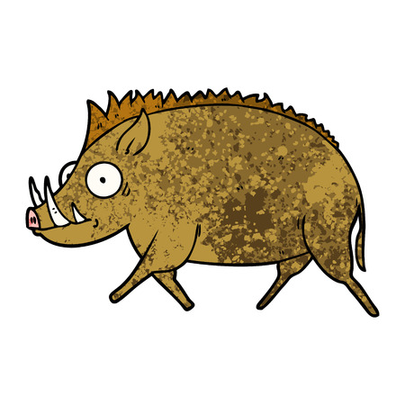 Cartoon wild boar.