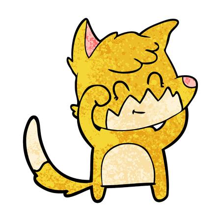 Cartoon vriendelijke vos. Stock Illustratie
