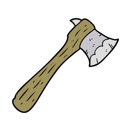 cartoon old axe