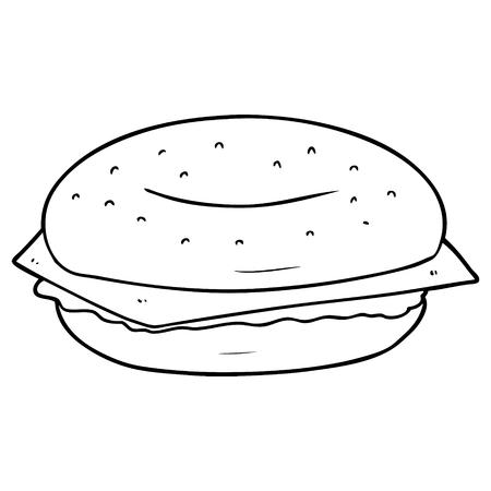 Bagel de desenhos animados Foto de archivo - 94902498