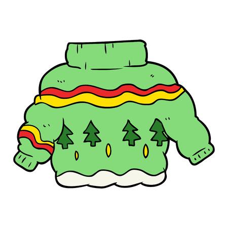 Cartoon embarrassing Christmas jumper Фото со стока - 94906224