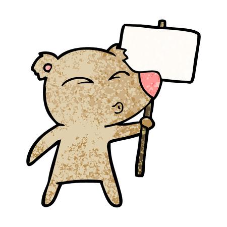 시위대 기호로 곰 만화 캐릭터