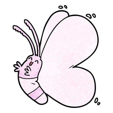 Funny cartoon butterfly Illustration
