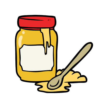 Cartoon jar of honey 版權商用圖片 - 94971675