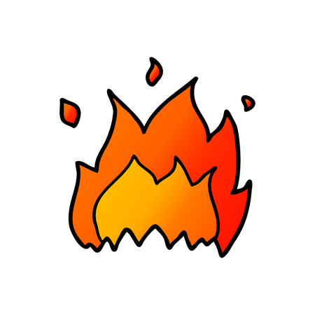 漫画の火  イラスト・ベクター素材