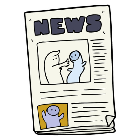 cartoon newspaper illustration
