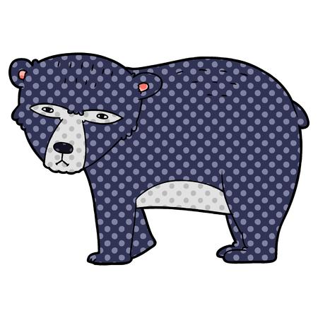 漫画深刻なクマ  イラスト・ベクター素材