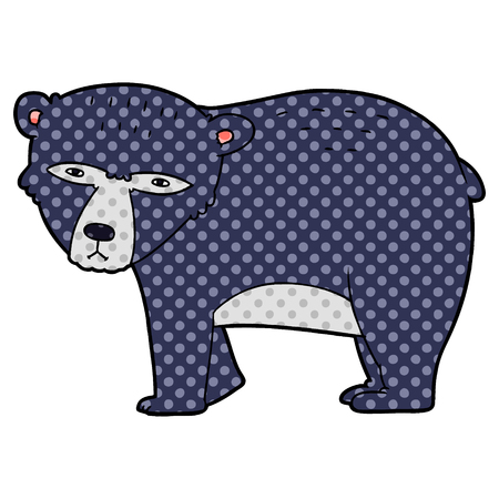 cartoon serious bear
