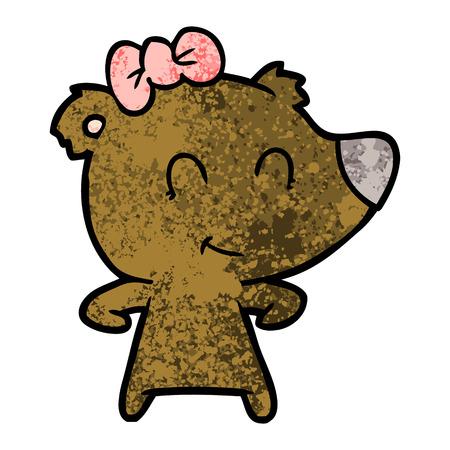 Cartone animato orso femmina Archivio Fotografico - 94742353