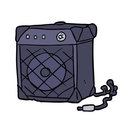 漫画エレキギターアンプ 写真素材 - 94742401
