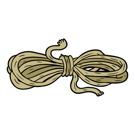 Cartoon rope illustration on white background.