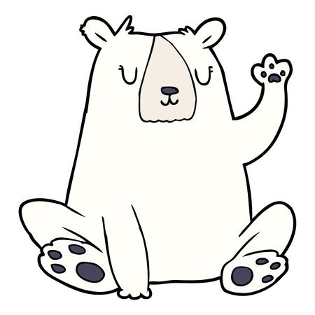 Cartoon polar bear illustration on white background.