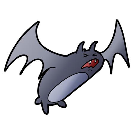 griezelige cartoon vleermuis