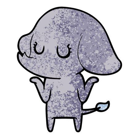 Mignon éléphant haussant les épaules Banque d'images - 94742757