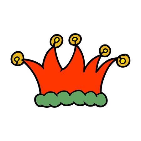cartoon jester hat Ilustração