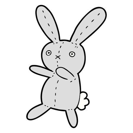 漫画おもちゃのウサギ  イラスト・ベクター素材