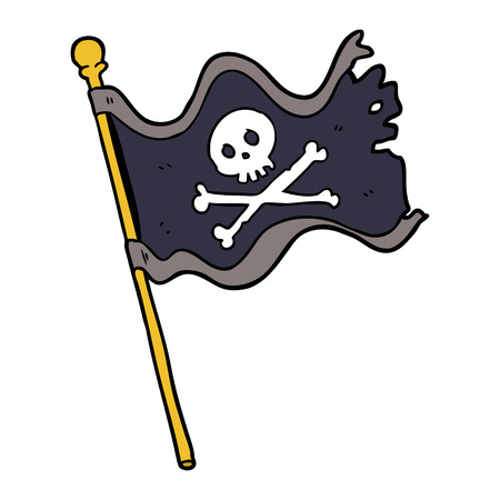cartoon pirate flag